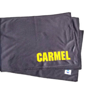 Carmel Branded Black Sweat Absorbing Towel